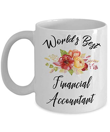 Financial Accountant Mug - World's Best - Funny Novelty Ceramic Coffee & Tea Cup Cool Gifts For Men Or Women With Gift Box