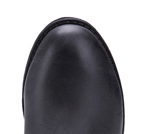 Schuhtempel24 Damen Schuhe Klassische Stiefeletten Stiefel Boots Blockabsatz Reißverschluss 3 cm Grau
