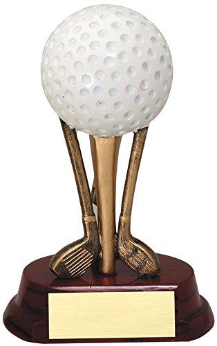 エッチングWorkzカスタマイズ樹脂Casting木製ベースゴルフ賞 – 電気めっき樹脂ゴルフティーSculptures Trophy – Includes 3行の彫刻 – ゴールドメッキ& Personalizedフリー B07FPD9342  5\