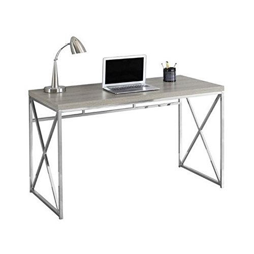 Atlin Designs 48'' Metal Writing Desk in Dark Taupe by Atlin Designs