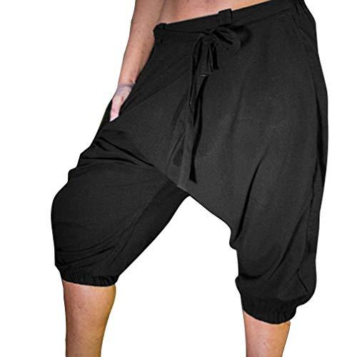 3 Ballon Pantalons Élastique Mode Chic Vrac Loisir Avec Shorts De Pantalon Haremshose Hommes À Lanterne Schwarz Pour Facile 4 Sport En rTwTIFqx
