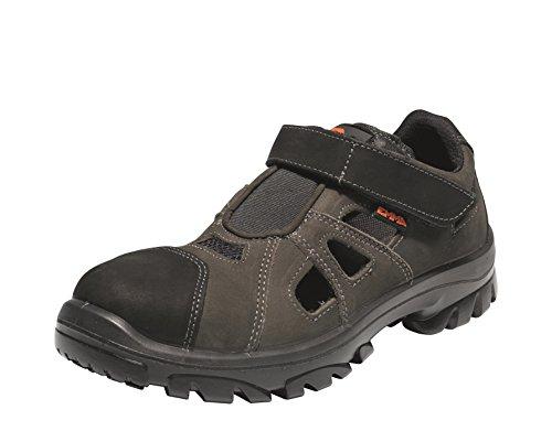 Emma Sicherheit Schuhe - Grau/ Schwarz S1 LO Sicherheitsschu Atmungsaktiv PU/SRC Klettverschluss - Daytona