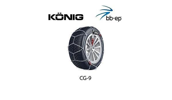 feinglie drige Cadena de nieve Thule 9 mm (9719090728) para Citroen C4 Picasso, C4 Grand Picasso (2006) con el tamaño de neumático 205/55 R16 en Juego con ...