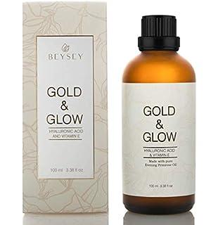 Gold And Glow Serum Facial Efecto Crema Antiarrugas Orgánico Hidratante Con Ácido Hialurónico Concentrado Vitamina E