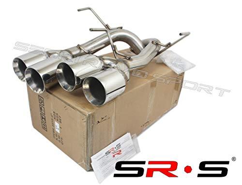 (SRS Axleback QUAD TIP EXHAUST FOR 11-14 Subaru WRX/STI Chrome 4