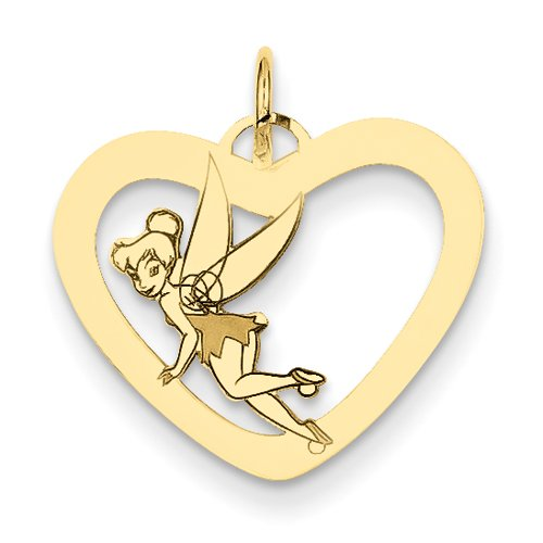 Disney-Fée Clochette Coeur-JewelryWeb 14 carats