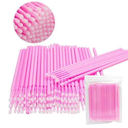 300 Pack 2.0mm Disposable Micro Applicator Brush For Makeup Beauty and Personal Daily Care (300 Pcs)