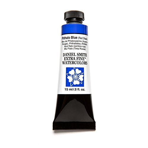 DANIEL SMITH, Phthalo Blue Red Shade Extra Fine Watercolor 15ml Paint Tube