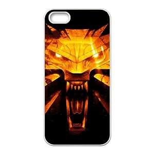 The Witcher3 Wild Hunt 009 funda iPhone 5 5S Cubierta blanca del teléfono celular de la cubierta del caso funda EVAXLKNBC12418