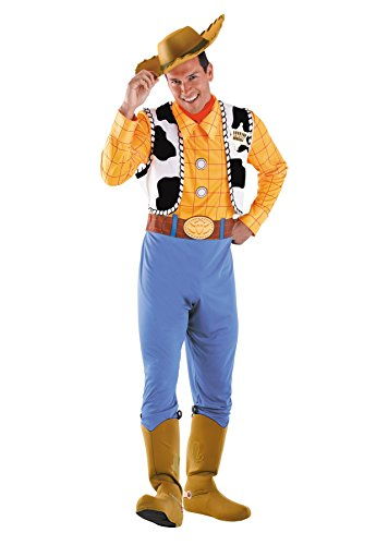 UHC Men's Deluxe Disney Toy Story Woody Theme Party Fancy Costume