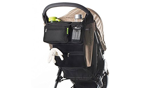 Conversancy Baby's Gift !Baby Stroller Multi-Purpose Mom , Fits All Strollers, Premium Deep Cup Holders, Extra-Large Storage Space for iPhones, Wallets, Diapers, Books, Toys, & iPads