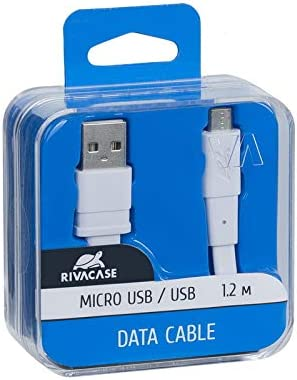 Rivacase Cable VA6000 WT12 Micro-USB 1.2m//White
