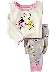 Elonglin Boys' Pyjamas Set, Cotton Long Sleeve Printed Pajama Sets PJs Sleepwear Thermal Underwear