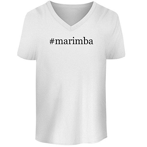 BH Cool Designs #Marimba - Men's V Neck Graphic Tee, White, (Yamaha Marimba)