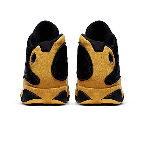 NIKE Air Jordan 13 Retro Men s Basketball Shoes Black University Red 414571  035 (10.5) 90913c712