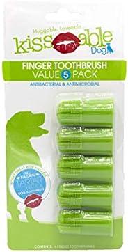 Kissable Escova de dedo dentária para cães | Cuidados dentários para cães, escova de dedo, pacote econômico, 5
