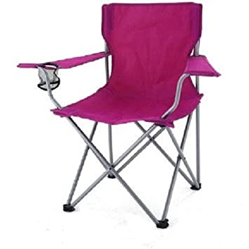 Ozark Trail Camp Chair w Carrying Case, Raspberry