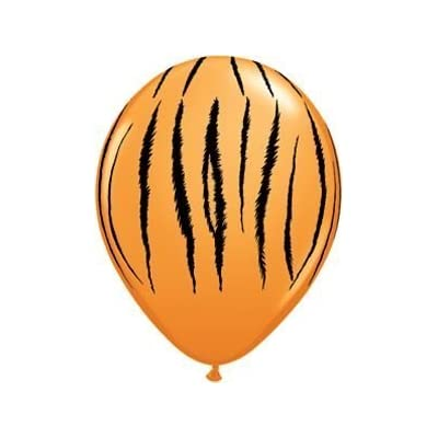 """Single Source Party Supplies - 11"""" Tiger Stripes Latex Balloons Bag of 10"""