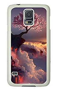 Samsung Galaxy S5 Nature Flowering Fire PC Custom Samsung Galaxy S5 Case Cover White