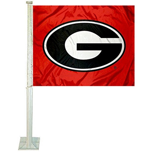 College Flags and Banners Co. Georgia Bulldogs Red Car Flag