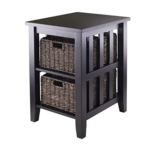 Etonnant Winsome Morris Side Table With 2 Foldable Basket