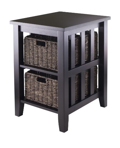 storage table with baskets - 1