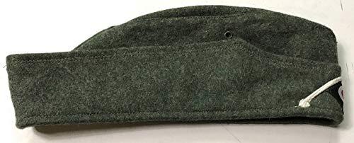 WWII GERMAN HEER ARMY WOOL M34 OVERSEAS SIDE CAP- SMALL ()