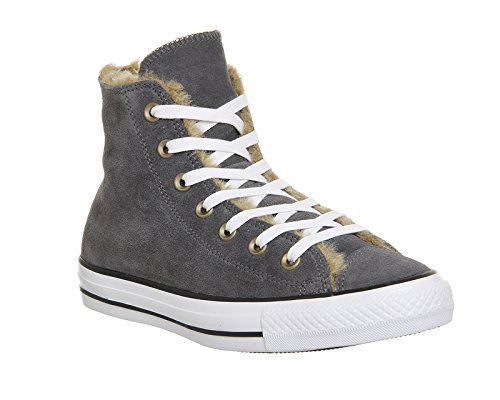 Converse Chuck Taylor All Star - Zapatillas de tela, unisex Thunder Grey Fur Lining