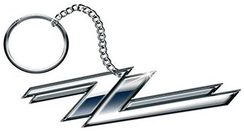 Zz Top Keyring Keychain Twin Z's Band Logo Official Metal Size One Size -