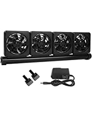 Petzilla Aquarium Chiller, Fish Tank Cooling Fan System for Salt Fresh Water (4-Fan)