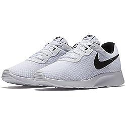Nike Womens Tanjun Running Sneaker, Whiteblack 10.5