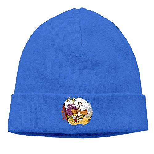 [OPUY Unisex Thomas Calvin And Hobbes Beanie Cap Hat Ski Hat Cap Skull Cap RoyalBlue] (Calvin And Hobbes Couple Costume)