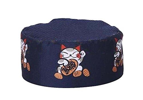 Black Temptation Japanese Style Hat Sushi Shop Chef Hat Waiter Hat Kitchen Hat [Blue-9] by Black Temptation
