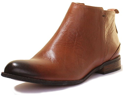 Justin Reece Womens Ladies RealLeather Ankle Cowboy Style Snake Boots Camel nYJRFaSoM6