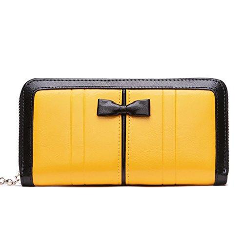 HT Women Wallet - Cartera de mano para mujer amarillo