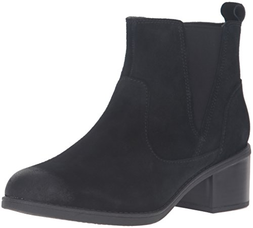 Clarks Women's Nevella Bell Boot, Black Suede, 8.5 M US