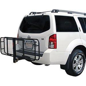 "Apex Rage Powersports CCB-F4820-DLX 48"" Folding Cargo Carrier/2"" Hitch-Mount Luggage Gear Rack Basket"