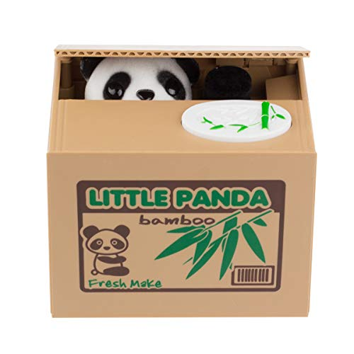- Suns Bell Panda Stealing Cute Coin Bank Money Saving Collection Box Cents Penny Container