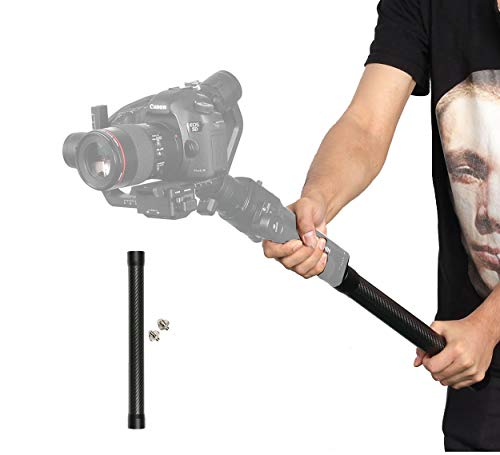 Dazzne Carbon Fiber Extension Stick for Ronin S/SC Extension Rod Holder Stick for Moza Air 2 / FeiyuTech AK4000 Zhiyun Crane 2 Smooth 4 Handheld Gimbal Stabilizer fit with 1/4