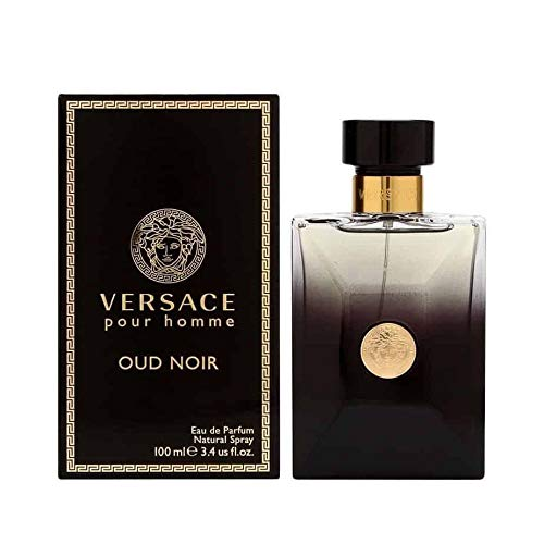 (Vêrsace Pour Homme Oud Noir Eau de Parfum Spray For Men 3.4 fl.oz./100 ml)