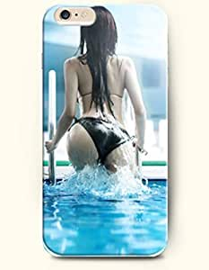 iPhone 6 Plus Case 5.5 Inches Sexy Girl with Bikini Going out from the Swimming Pool - Hard Back Plastic Case OOFIT Authentic by icecream design