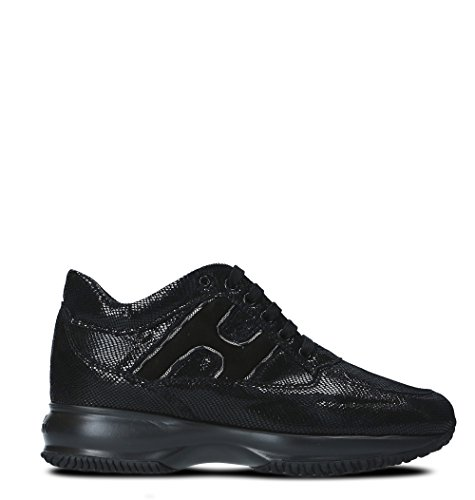 Hogan Pelle Hxw00n0z160h1sb999 Nera Sneakers Donna Da In YqYFERH