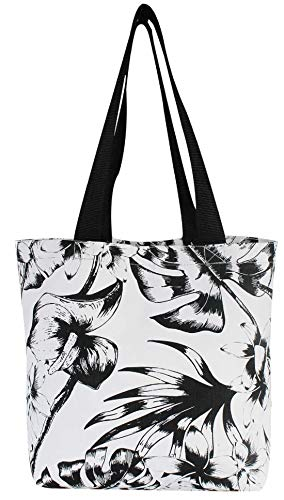 Earthwise Reusable Grocery Bag Beach Shopping Tote Extra Large Heavy Duty 12 oz Cotton Canvas Multi Purpose Machine Washable 22 inches x 15 inches Proudly Made in the USA (Floral Print)