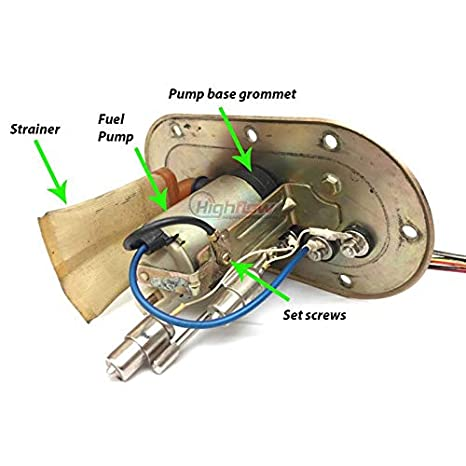 15100-33E00 HFP-381-TS Fuel Pump Replacement for Suzuki GSX-R600//GSXR600//Gixxer 600 EFI 1997-2000 Replaces 15100-34E00 15170-34E00 15170-33E00 HFP-381-GSXR600-C