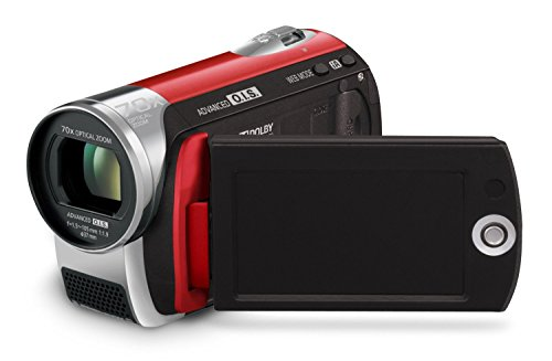 Panasonic SDR-S26 SD Card Standard Definition PAL Camcorder (Red)