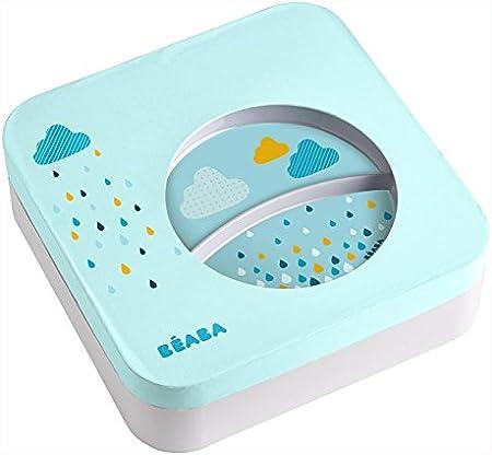 Béaba 913407 - Set de vajilla para bebé, Color Azul