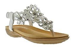 Gladiator Style Rhinestone Comfort Flat Sandals