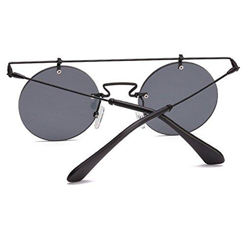 54fe4cad23 85% OFF Gafas de sol redondas Highdas Vintage Men para mujer Puente doble  de metal