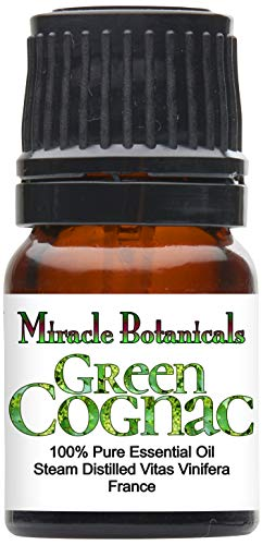 Miracle Botanicals Green Cognac Essential Oil - 100% Pure Vitis Vinifera - Therapeutic Grade - 2.5ml