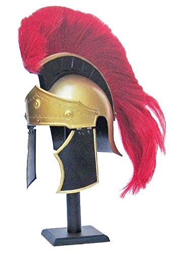 (IOTC IR80650 Greco Roman Helmet with Red Plume Ancient)